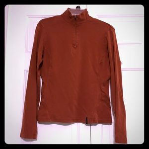 REI Women's Burnt Orange Half Zip Shirt